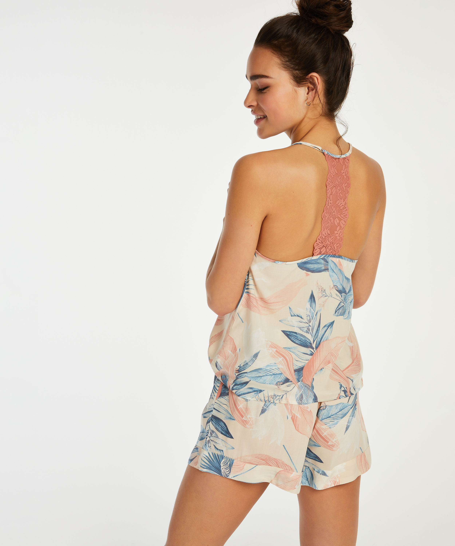 Pyjama-Shorts, Beige, main