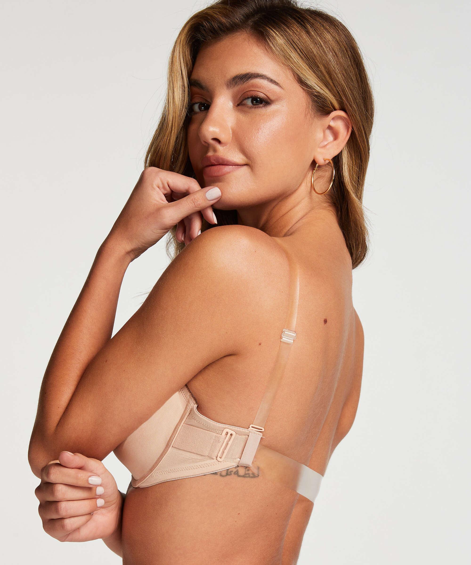 Vorgeformter Bügel BH, transparant back, Beige, main