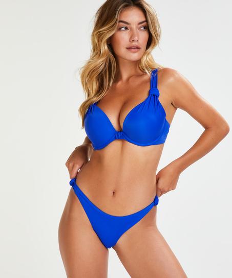 Vorgeformtes Bügel-Bikinitop Luxe Cup E +, Blau