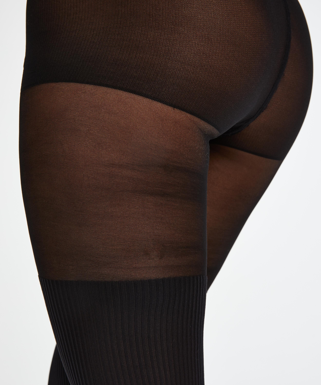 Strumpfhosen 50 Denier Overknee Sock, Schwarz, main