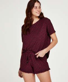 Kurzes Pyjamaset Dot, Rot