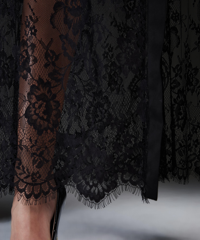 Kimono Allover Lace lang, Schwarz, main