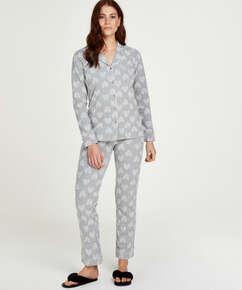Pyjamaset Boyfriend Heart, Grau