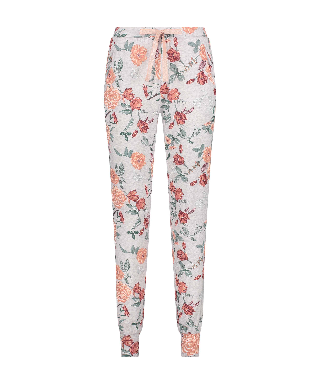 Tall Pyjamahose aus Jersey Sage, Grau, main