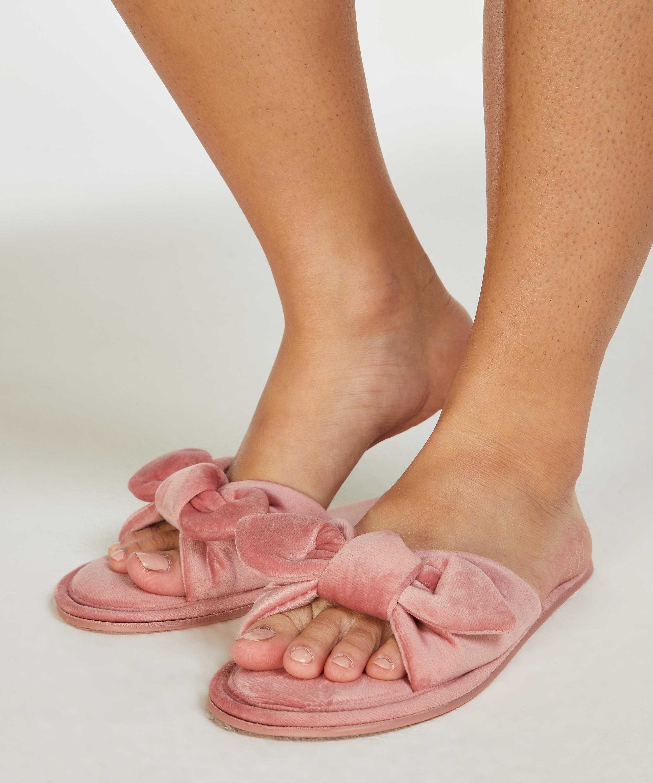 Velours-Slippers Knot, Rose, main