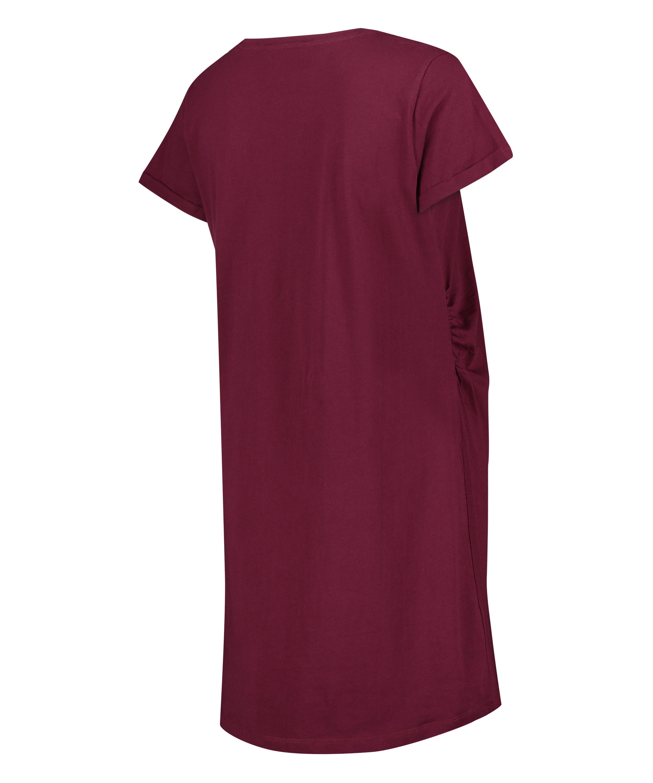 Umstandsnachthemd mit kurzen Ärmeln, Rot, main