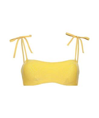 Vorgeformtes Bandeau-Bikini-Top Carmel, Gelb