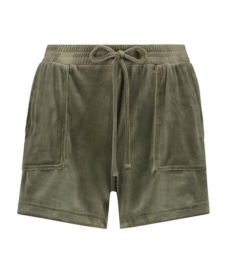 Shorts Velours Pocket, grün