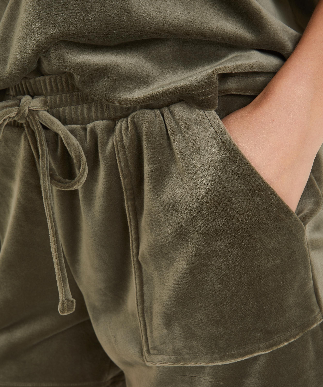 Shorts Velours Pocket, grün, main