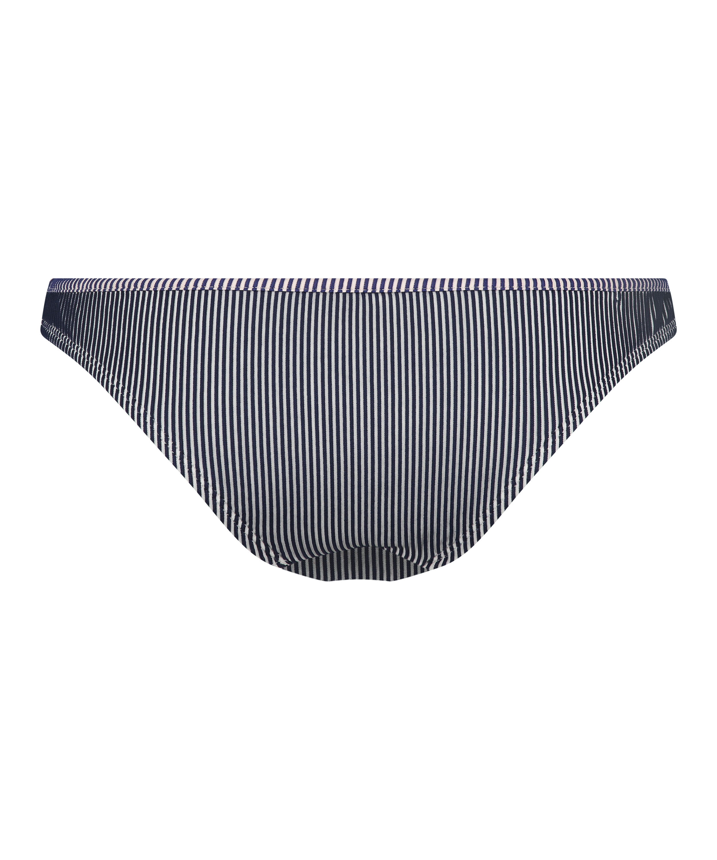 Rio Bikinihose Ruffle Stripe, Blau, main