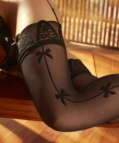 Stockings Bow Rebecca Mir, Schwarz