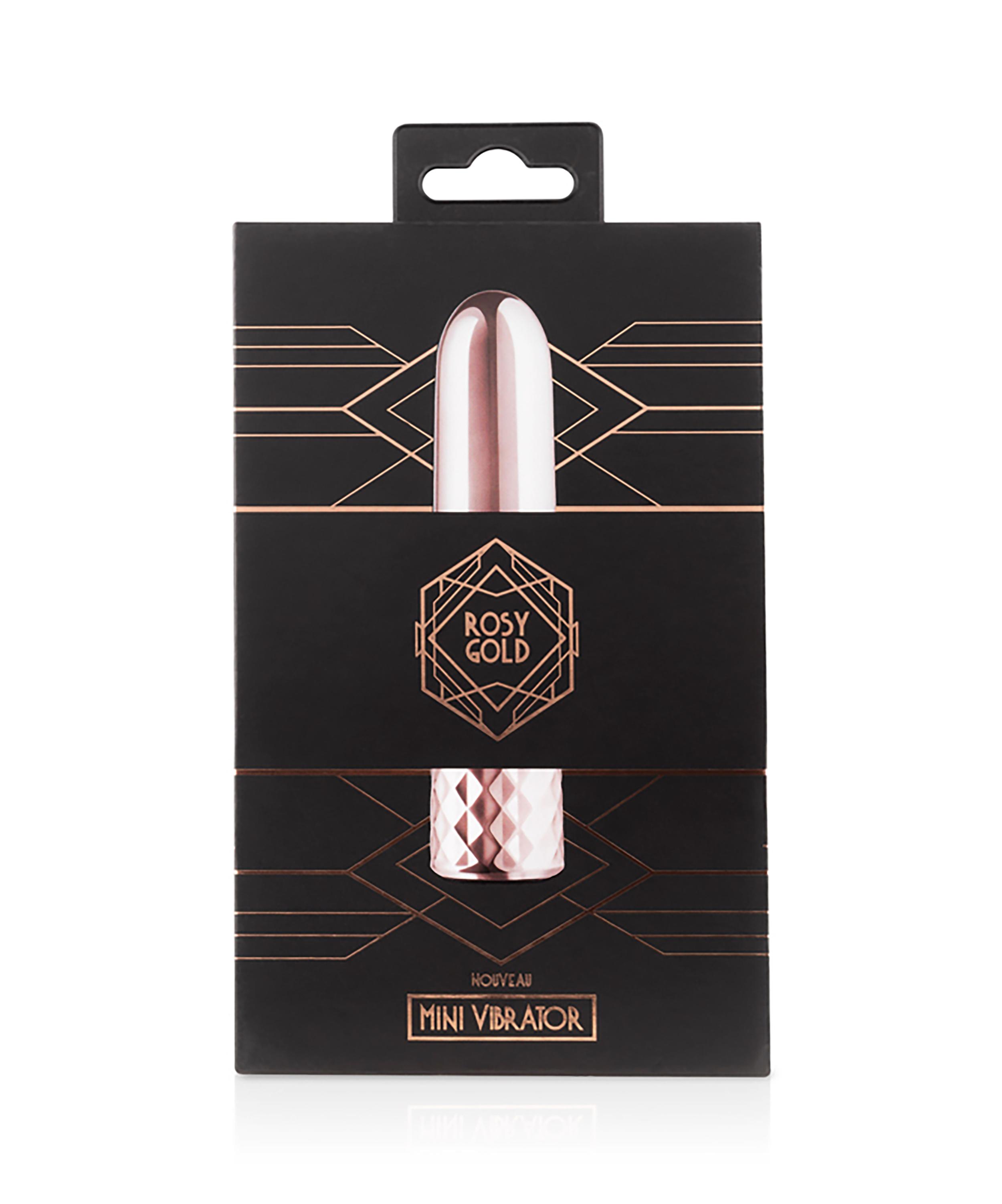Rosy Gold Nouveau Mini Vibrator, Rose, main