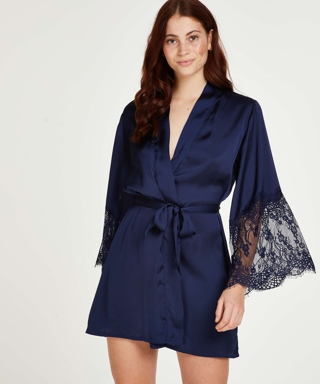 Kimono Satin, Blau, main
