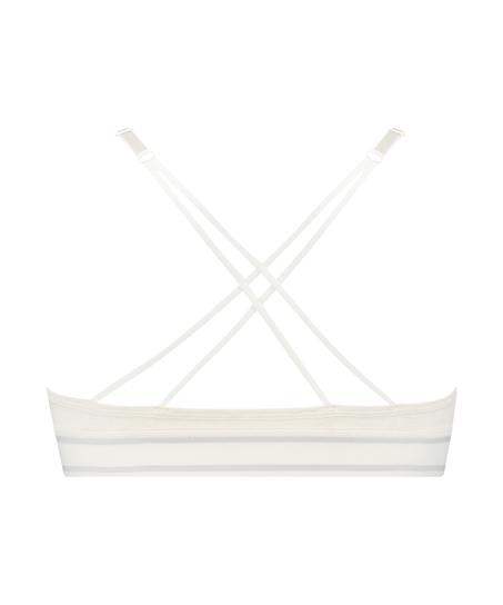 Geformter Triangel-Bralette Casey Baumwolle, Weiß