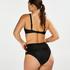 Nicht vorgeformtes Bügel-Bikinitop Sunset Dreams, Schwarz