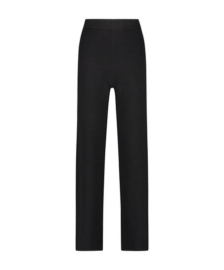 Premium Lange Hosen aus Strick, Schwarz