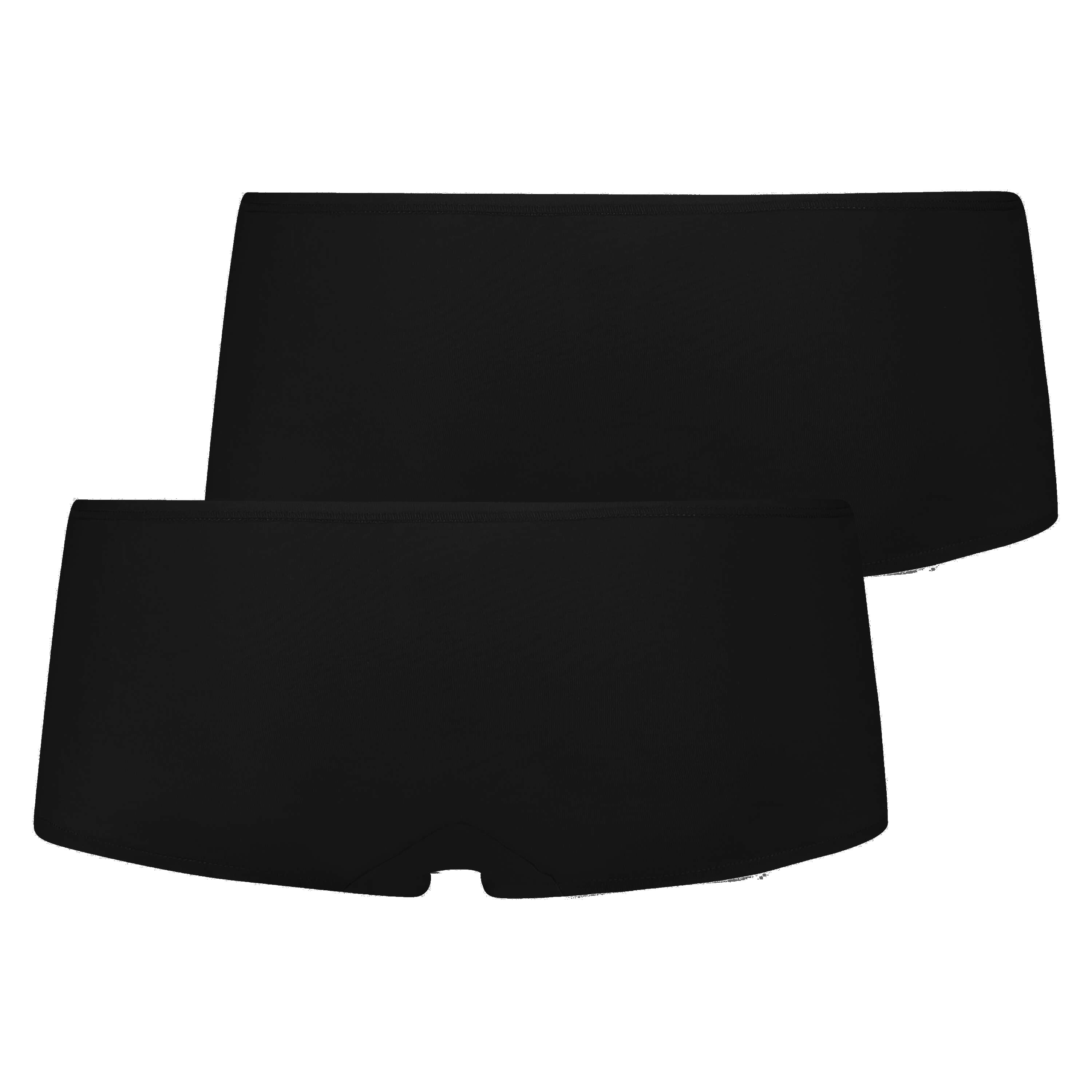 2-pack boxer Kim Cotton, Schwarz, main