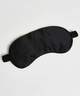 Schlafmaske Seide Noir, Schwarz