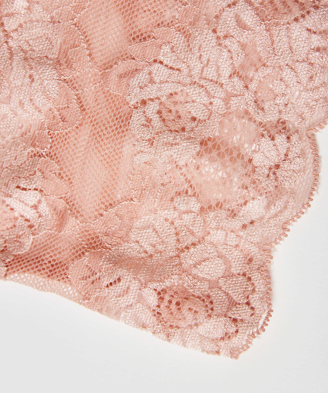 Oberschenkelband aus Spitze, Rose, main