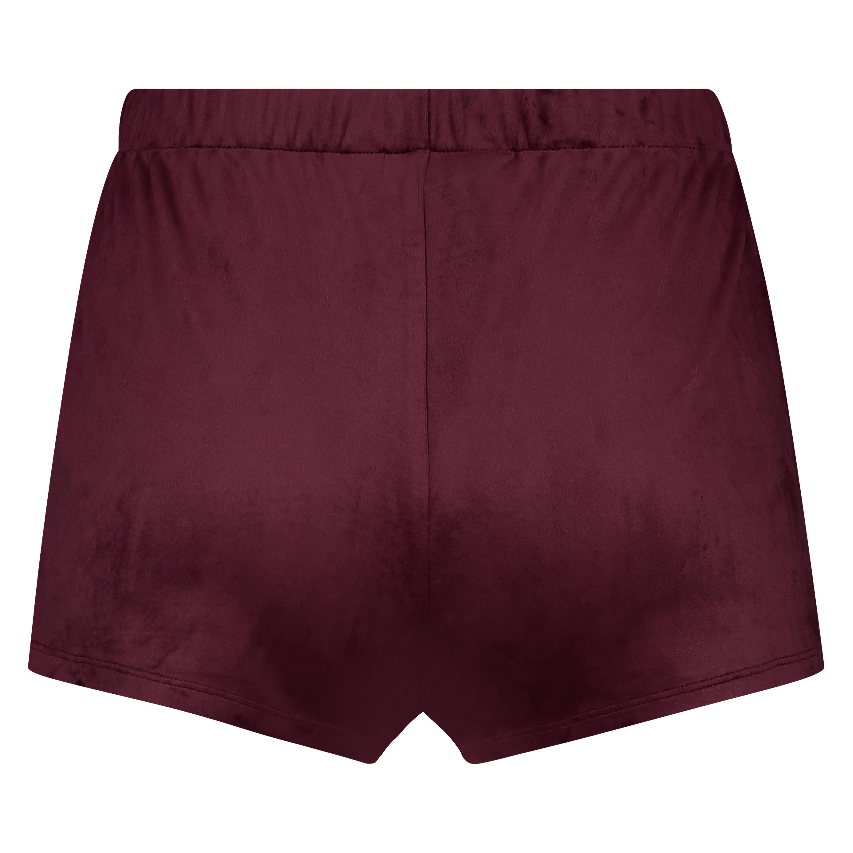 Shorts Velours, Rot, main