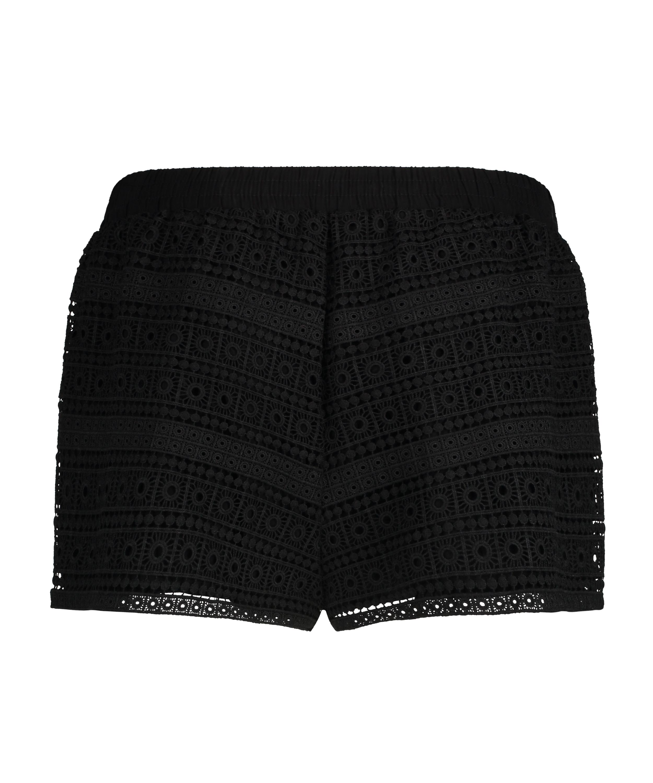 Shorts Crochet, Schwarz, main