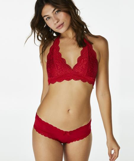 Bralette Halter Lace, Rot