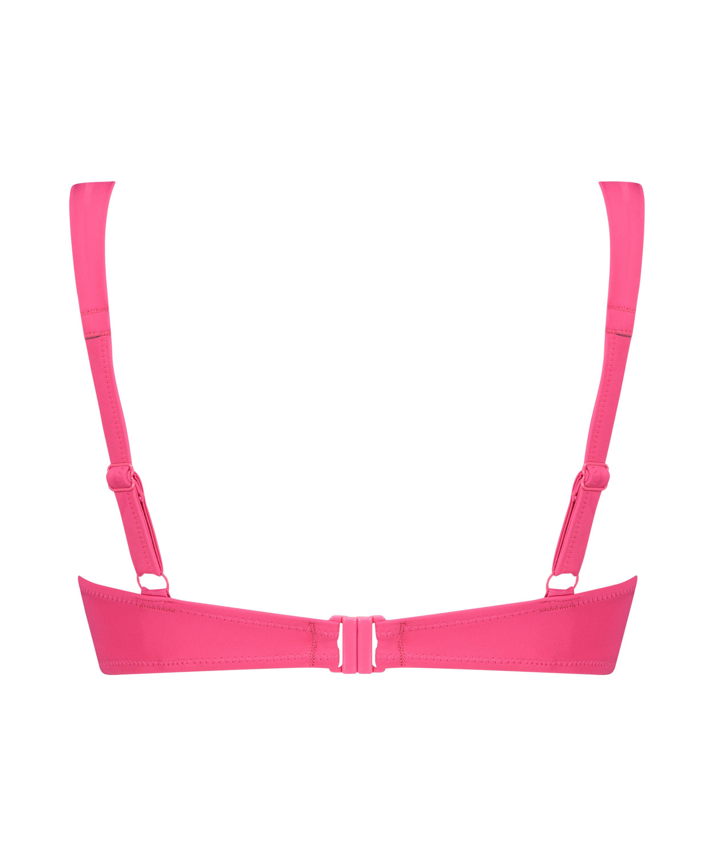 Vorgeformtes Bügel-Bikinitop Luxe Cup E +, Rose, main