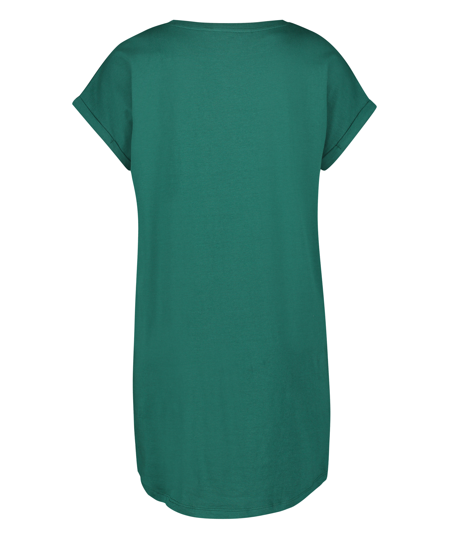Nachthemd Rundhalsausschnitt, Grau, main