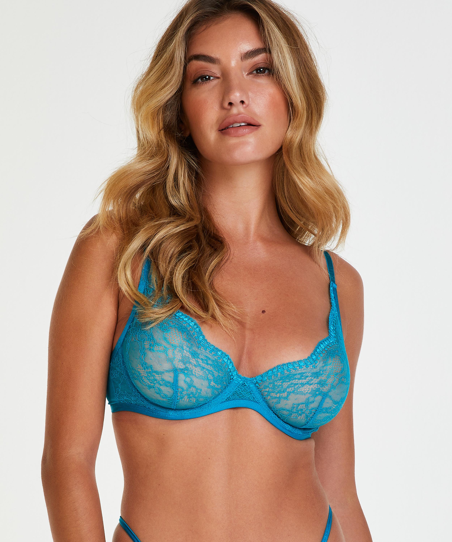 Unwattierter Bügel-BH Isabelle, Blau, main