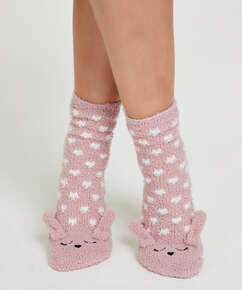 1 Paar Socken Cosy Bunny, Rose