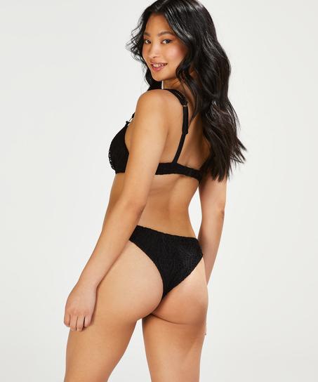 Brazilian Bikini-Slip Crochet, Schwarz