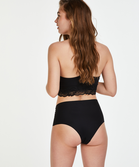 Invisible High-waist Brazilian, Schwarz