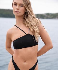 Bandeau Bikinioberteil HKM x NA-KD, Schwarz