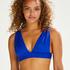 Triangle-Bikini-Top Luxe, Blau