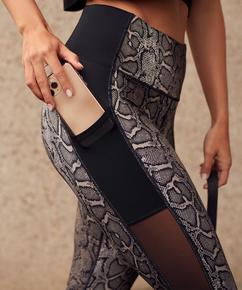 HKMX Sport-Legging mit hoher Taille, Schwarz