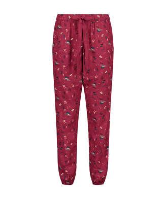 Pyjamahose Twill, Rot