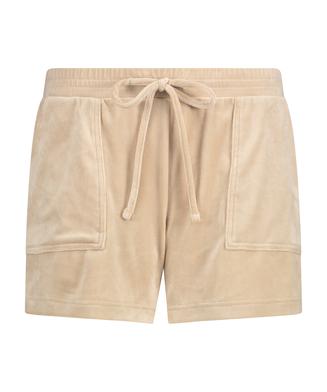 Shorts Velours Pocket, Beige