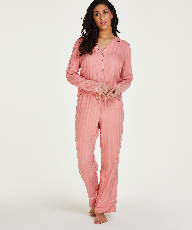 Tall Pyjamahose Woven, Rose, main
