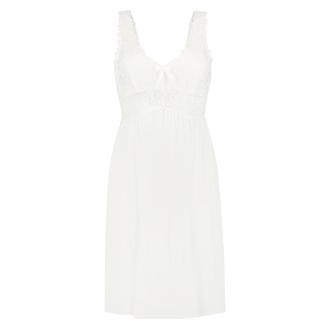 Slipdress Modal Lace, Weiß
