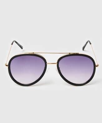 Sonnenbrille Aviator, Schwarz