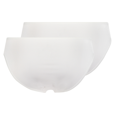 2er-Pack Slip Kim Cotton, Weiß