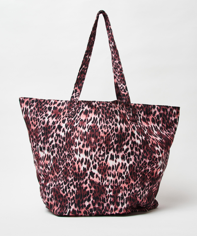 Strandtasche Leopard, Braun, main