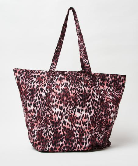 Strandtasche Leopard, Braun
