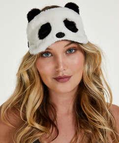 Schlafmaske Cute Panda, Weiß