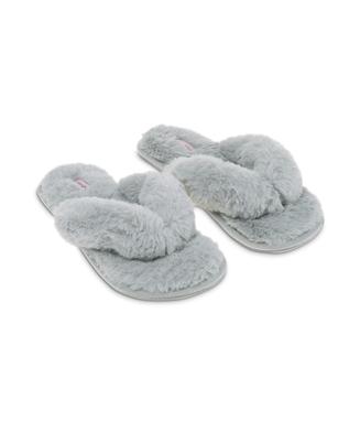 Hausschuhe Fake Fur, Grau