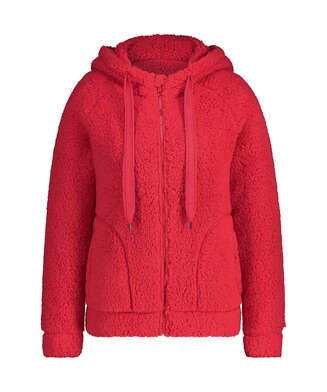 Weste aus Fleece, Rot