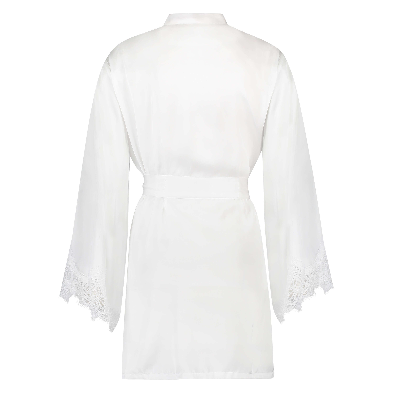 Kimono Lace Satin, Weiß, main