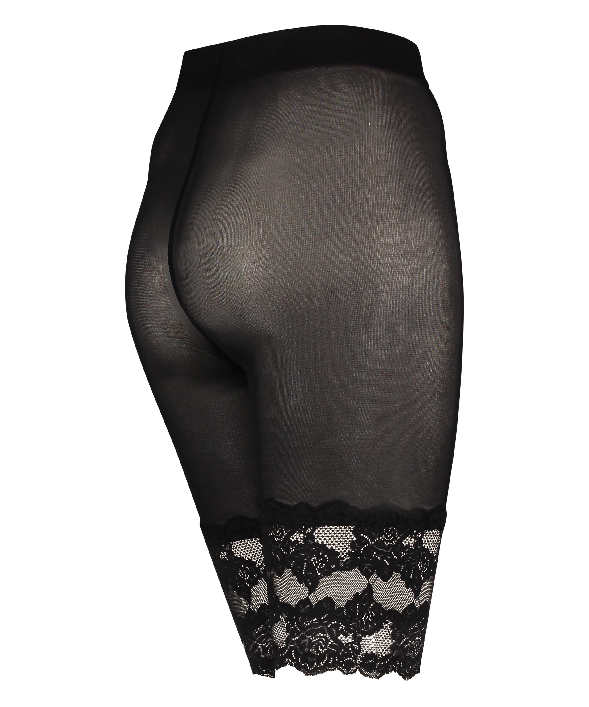 Spitzen-Shorts Anti Chafing, Schwarz, main