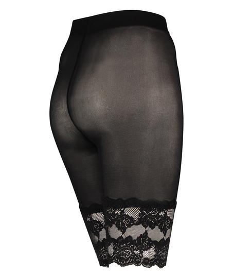 Spitzen-Shorts Anti Chafing, Schwarz