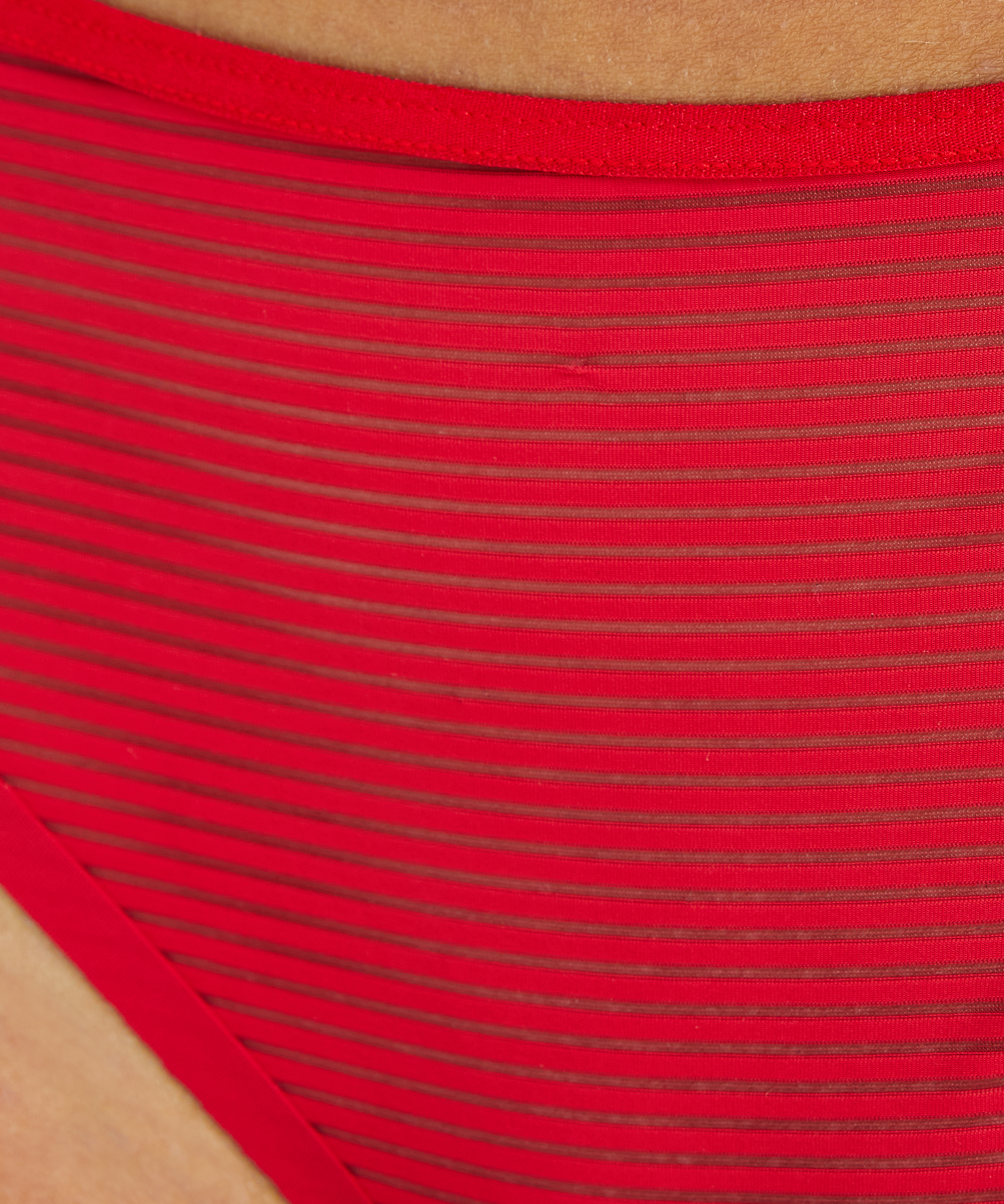 Invisible String Stripe Mesh , Rot, main